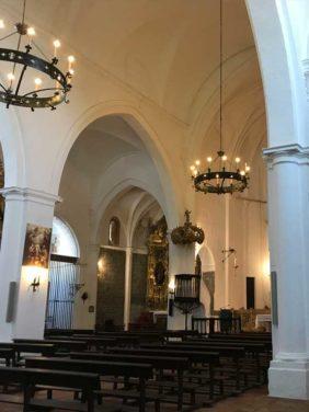 interior de la Iglesia de Santiago