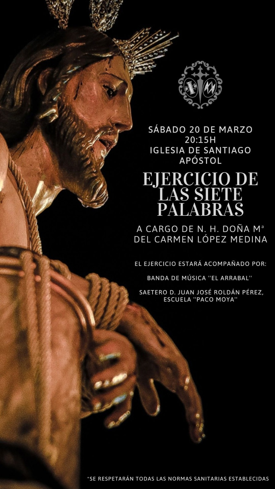 EJERCICIO DE LAS SIETE PALABRAS NUESTRO PADRE JESUS EN LA COLUMNA CARMONA