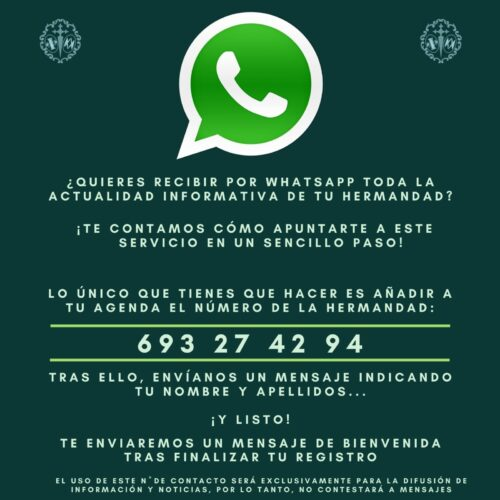 Instrucciones WhatsApp hermandad