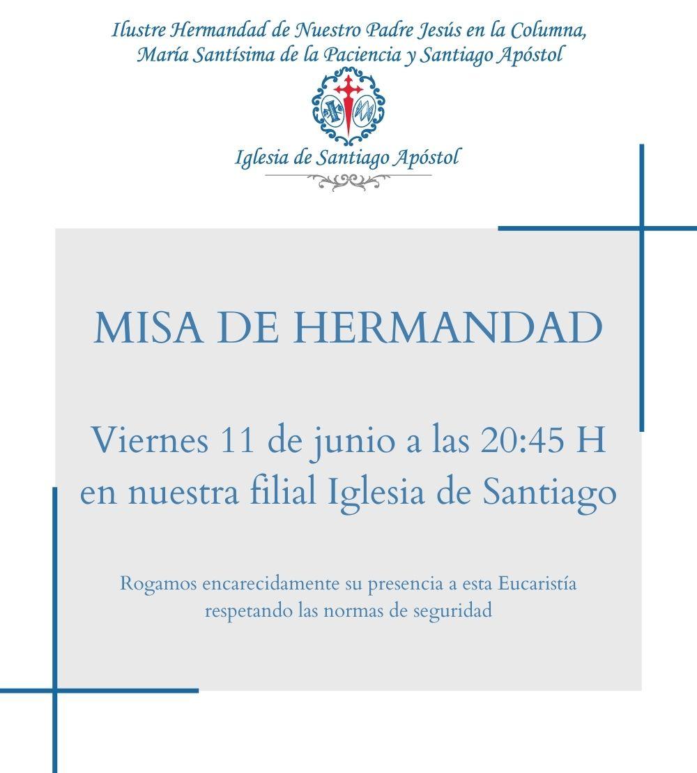 MISA DE HERMANDAD 11 DE JUNIO